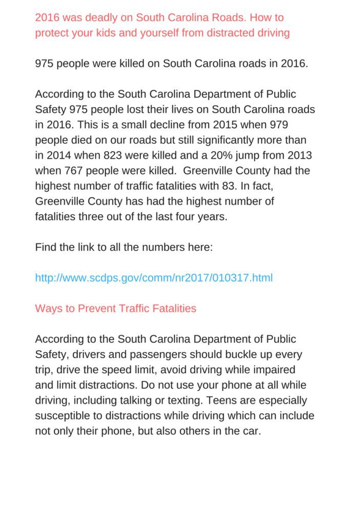 Texting and Driving Info