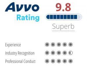 9.8 Avvo Rating