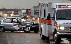 ambulance at scene of car accident