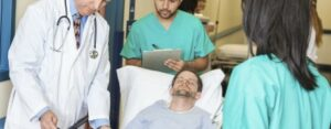 man suffering from personal injury