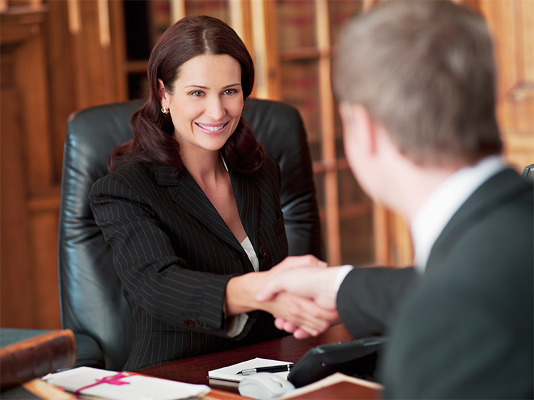 social security disability lawyer meeting client