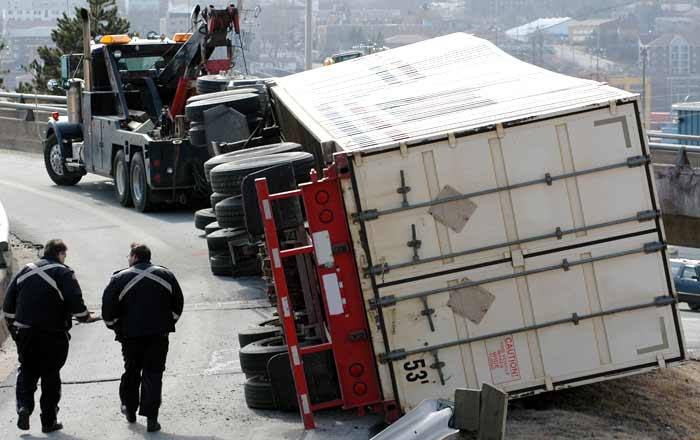 truck accident during the winter