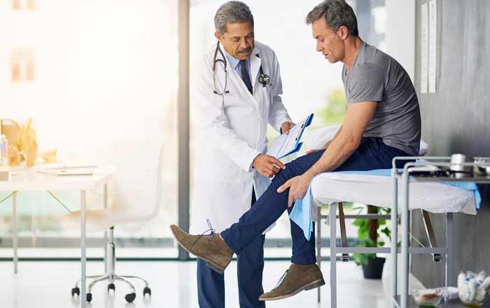 Injured Man Requiring Workers' Comp Benefits