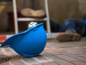 fallen worker in a workplace injury